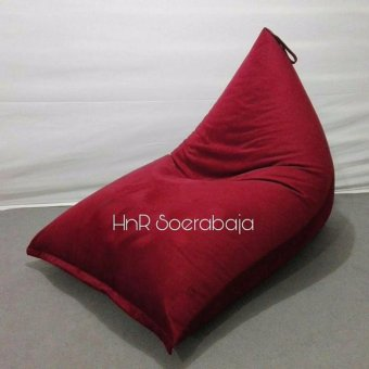 Harga Kursi santai bean bag Triangel - Red