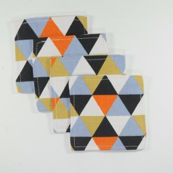 Coaster / Alas Gelas / Tatakan Gelas - Black-Orange
