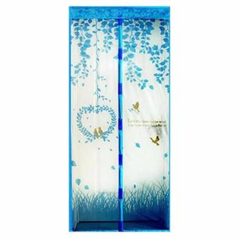 Harga TIRAI Model Taiwan MAGNET ANTI NYAMUK Motif Love Birds Daun Burung NEW Magic Mesh Pintu Door