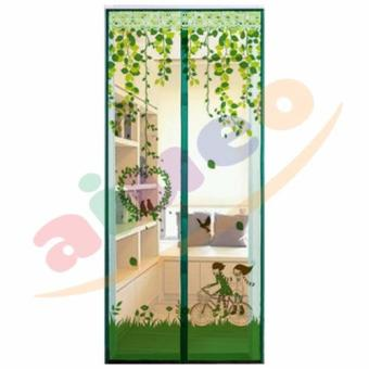 Harga AIUEO Magic Mesh Tirai Magnet Anti Nyamuk Motif Couple And Bird - Tirai Pintu Magnet - Hijau