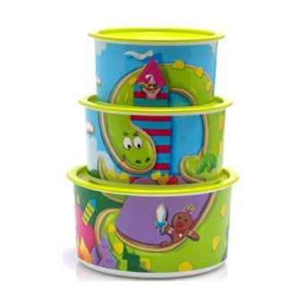 Harga Tupperware Jojo The Dragon - 3 pcs