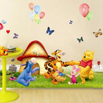 Harga Hequ Winnie the Pooh Nursery Room Wall Decal Stickers For Kids Baby Kids Children NEW - intl