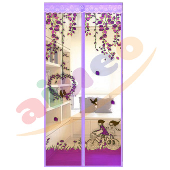 Harga Magic Mesh Tirai Magnet Anti Nyamuk Motif Couple And Bird - Tirai Pintu Magnet - Ungu