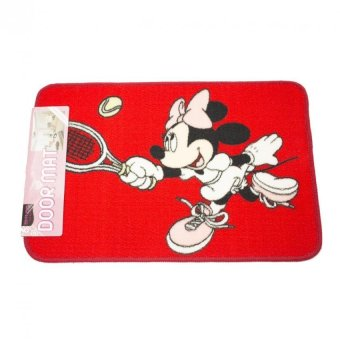 Harga Dixon Keset Akrilik Character 40x60 Minnie Tennis Red -Multi Colour