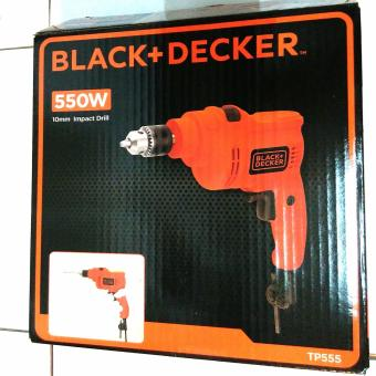 Harga Black & Decker Hammer Impact Power Drill 10mm TP555 / Bor Beton