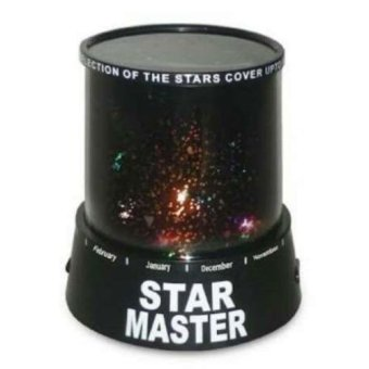 Harga Auto-rotating Music Sky Star Master Projector Lamp - Black