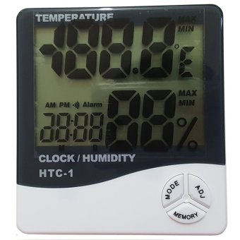 Harga HTC-1 Digital Thermometer and Hygrometer Pengatur Suhu Ruangan - Putih