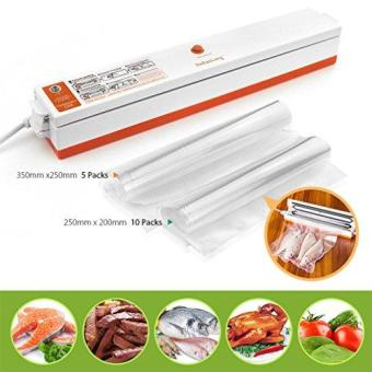 Harga RHS Vacuum Sealer Machine 220V Food Sealer Heat Sealer Set (Vacuum Sealer+15 Vacuum Bags) - intl