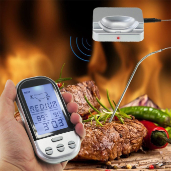 Harga Kitchen Wireless Digital Oven And Grill Meat Thermometer And Timer With Probe - intl
