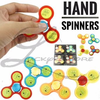Harga Lucky Hand Spinner Fidget Spinner LED Spiner Lampu On/Off Hand Toys Focus Games / Mainan Spiner Tangan Penghilang Kebiasan Buruk - Random Colour - 1 Pcs
