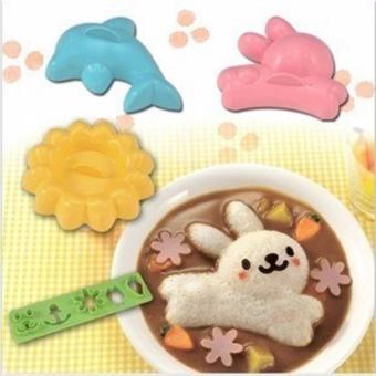 Harga Rice Mold 4in1 (Rabbit, Dolphin, Flower, Expression)