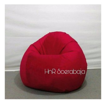 Harga Kursi santai Bean Bag Oval - Red