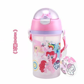 Harga Catwalk My Little Pony Baby Children Students PP 500ml Leakage-proof Travel Straw Cup - intl