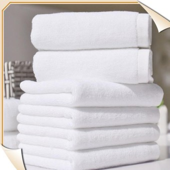 Harga 30 cm x 60 cm 1 buah putih lembut kualitas 100% Cotton Hotel handuk
