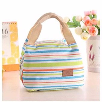 Harga BEST STRIP-Lunch bag Cooler Bag Tas Bekal bonus jelly ice cooler - HIJAU