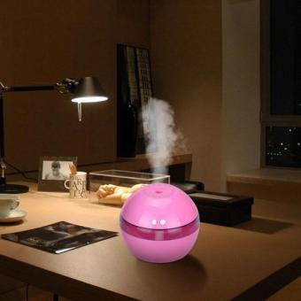 Harga Air Aroma Essential Oil Diffuser LED Ultrasonic Aroma Aromatherapy Humidifier(Pink) - intl