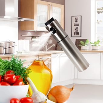Harga Silver Stainless Steel Olive Pump Spraying Oil Bottle Sprayer Can Oil Jar Pot Tool Can
