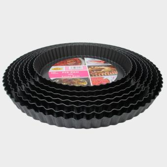 Harga Mitra Loka - Loyang Pie Teflon Pie Pan Cetakan Pie Set 7Pieces Removable – Hitam