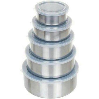 Harga Rantang Susun Fresh Box 5 Pcs Per Set - Tutup Kedap Udara - Stainless