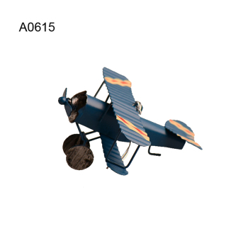 Harga The High Quality Vintage Boeing Aircraft Home Decoration Plating Metal Crafts Biplane Model A0615(blue) - intl