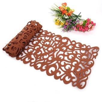 Harga Rectangle Shape Felt Tablecloth Runner Placemats Table Mats (Light Coffee) - intl