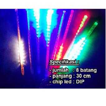 Harga LED Meteor RGB/Red-Green-Blue LED DIP (8 Batang) Panjang 30 cm