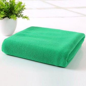 Harga 70 cm x 140 cm penyerap mikrofiber pengeringan handuk lap mandi Shower (hijau)