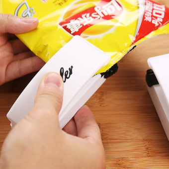 Harga Portable vacuum bag sealing machines snack airtight bag sealer