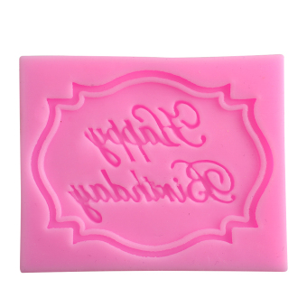 Harga New Happy Birthday Silicone Cake Mould