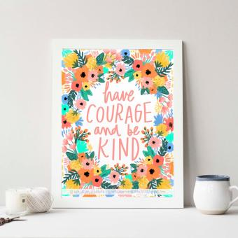 Harga Frame Motivasi Do All Things With Kindness (A-34) Putih