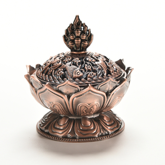 Harga Velishy Tibet Incense Burner Censer Auspicious Lotus Shape Red Copper