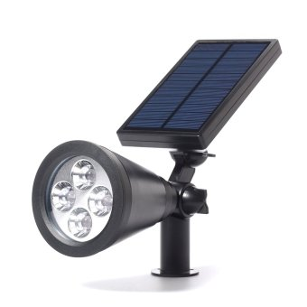 Harga XCSource Solar Powered 4 LED Spotlight Outdoor Garden Landscape Pathway Lawn Lamp