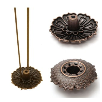 Harga 9 Holes Lotus Flower Incense Burner Holder Plate For Stick & Cone Incense - Intl