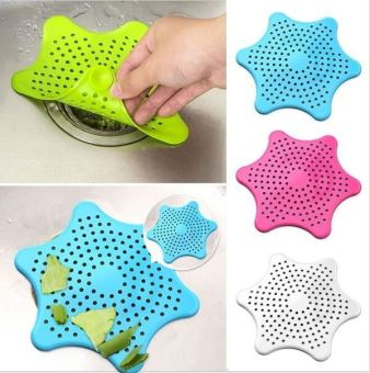 Harga Silicone Sink Seastar Type Filter Bathroom Sewer Drain Pad Hair Stopper - intl