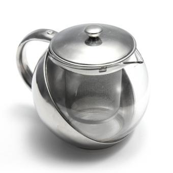 Harga 500 ml teko teh herbal daun kaca Infuser saring (stainless steel)- intl