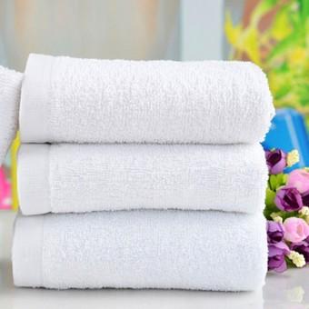 Harga 30 cm x 60 cm 1 buah putih lembut berkualitas 100% Cotton Hotel handuk