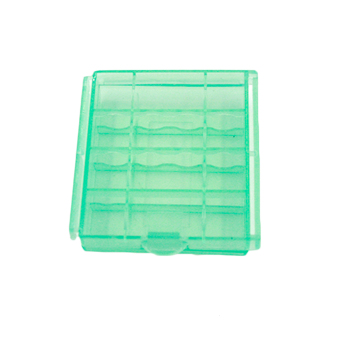 Harga Portable Plastic Translucent Case Storage Box for AA AAA Battery Green