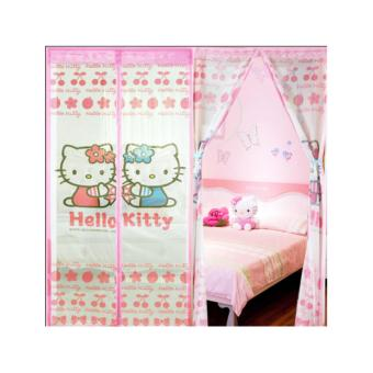 Harga Pitaldo Tirai Pintu Anti Nyamuk Magnet Motif HelloKitty Magic Mesh Magnetic Curtain