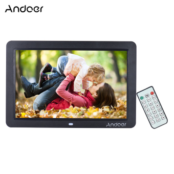 "Harga Andoer 12"" Wide Screen HD LED Digital Picture Frame Digital Album High Resolution 1280*800 Electronic Photo Frame with Remote Control Multiple Functions Including LED Clock Calendar MP3 MP4 Movie Player Support Multiple Languages - intl"