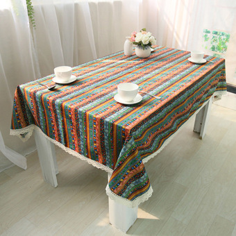 Harga Rondaful 1x a:60*60 Tablecloths Ethnic Style Fashion Cotton Table Cloth Tablecloths Coffee Mats