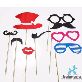 Harga Balonasia 8 pcs Set Photo Booth Props / Foto Boot Party Accessories (B)