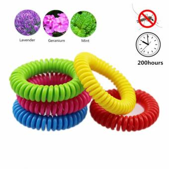 Harga 1pc Natural Plant Oil Mosquito Repellent Hand Ring Coil Bracelet Spiral (Color In Random) - intl