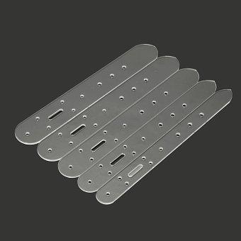 Harga 5x Leather Craft Clear Acrylic Belt Buckle Head End Templates Stencil Tool Set - intl