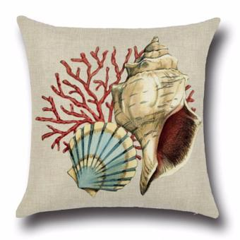 Hanyu Seaworld Series Shell Pillow Case Cover Home Sofa Decorative - intl