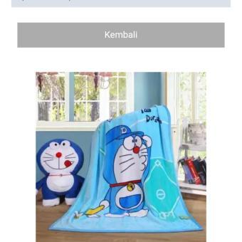 Selimut bulu Doraemon karakter 3D kualitas import(ukr 150x200)