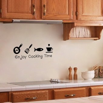 Harga New kitchen Living Room Background Wall Stickers Enjoy Cooking Time