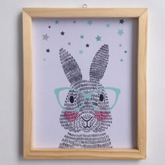 Harga Wall decor / Printed poster / Hiasan dinding - RABBIT