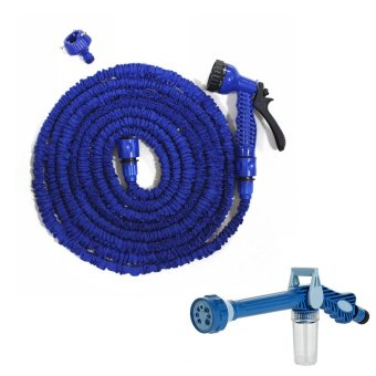 Harga Magic X-Hose Auto Expandable 7.5 m with Connector Type A - Selang Air Fleksibel - Biru + Ez Jet Water Canon
