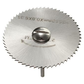 Harga 6 buah HSS putaran bilah gergaji Circular alat pemotongan cakram roda celana + 1 Mandrel
