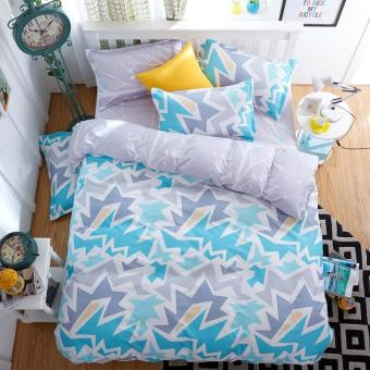 Harga Spring/summer Style Cotton Bedding Sets Super Soft Owl Twin Full Queen King Nordic Style Comforter Duvet Cover Bed Sheet Pillowcase (Queen size) - intl